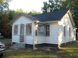 This is the initial exterior view of the the house.